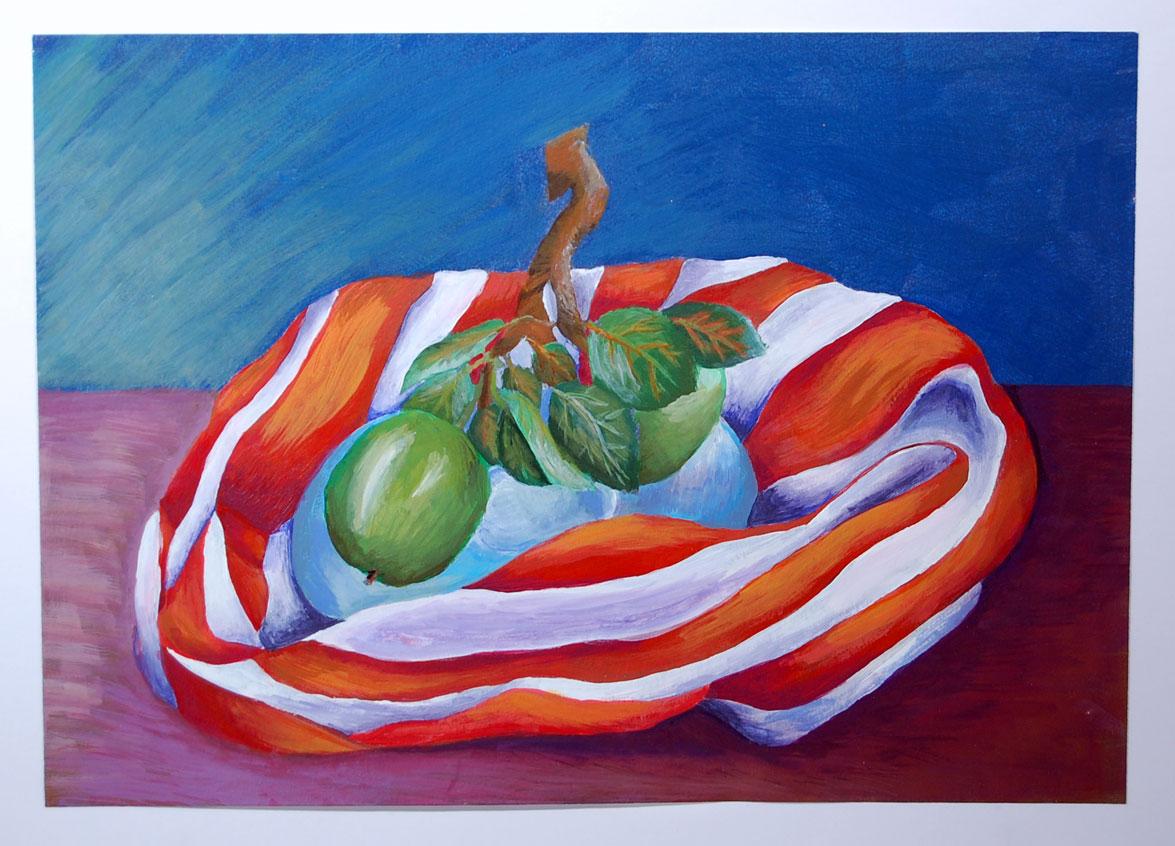 Apples (2008) - Acrylic on Card