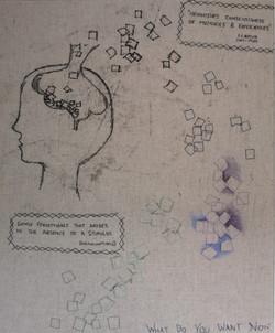 Monoprint, chalk and stitching (2016)