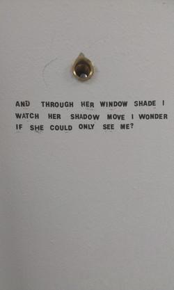 Letroset on board, Peephole (2013)