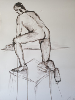 Life Drawing (2014) - Ink on card