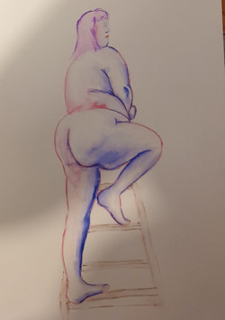 Life Drawing (2020) - Ink and Water