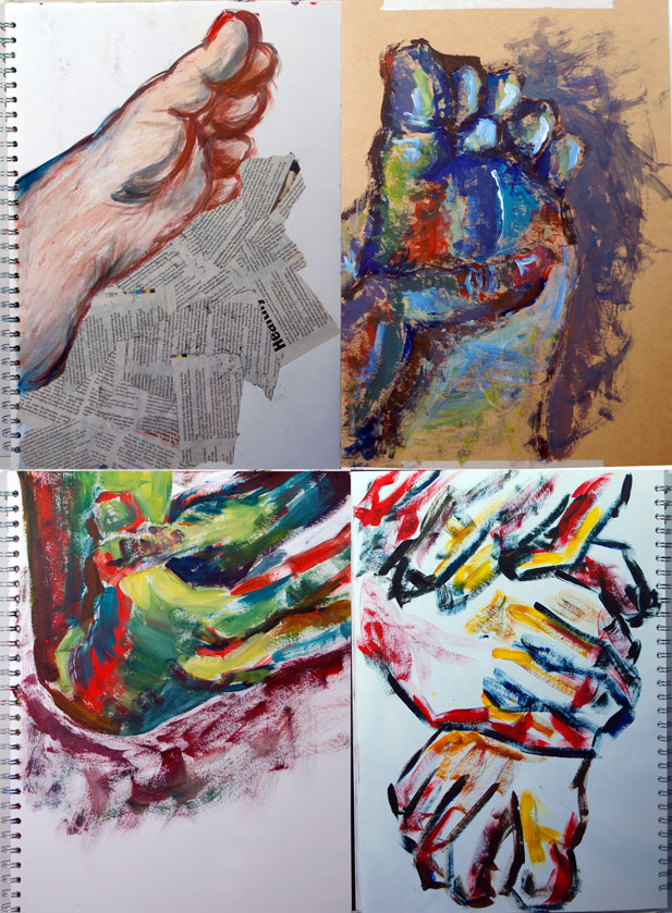 Life Drawings (2010) - Mixed media on paper