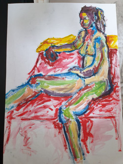 Life Drawing (2011) -Paint on paper