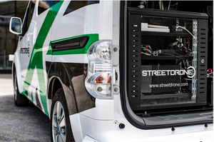 A StreetDrone vehicle compute bay