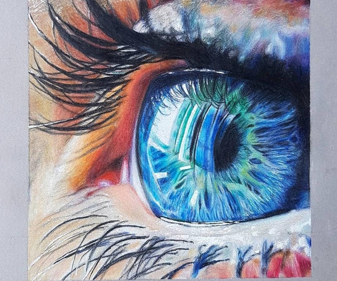 Eye Art by @madihah.draws