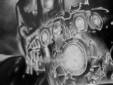 Thanos Epic Art Drawing