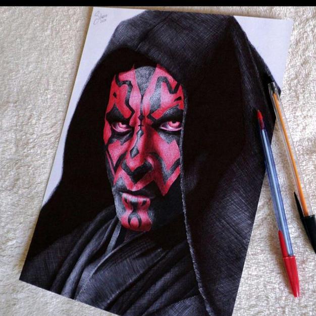 Darth Maul Star Wars Art