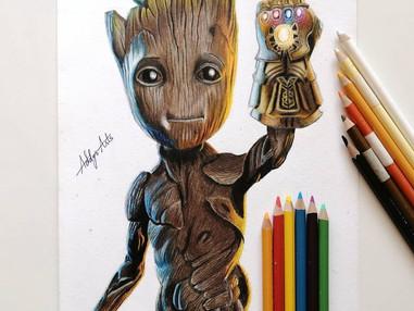 Baby Groot Art