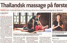 Siam Thai Massage i Holstebro på første sal ovenpå Søstrene Grene.