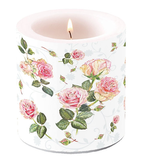 Decorative candle small - Rosie White