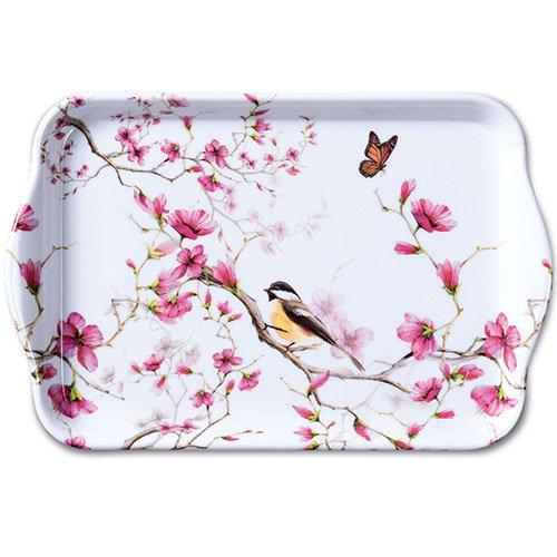 Small tray - Bird & Blossom White