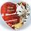 Thumbnail: Decoupage Decorated Heart, Slate Westie Christmas Heart Wall Decoration, Hanging