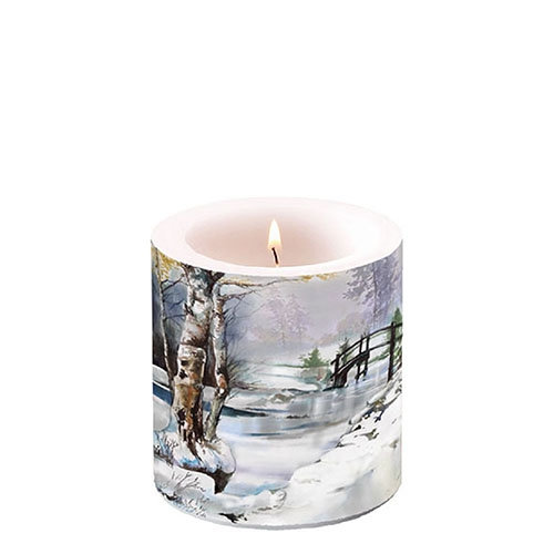 Decorative candle small - It`s Wintertime