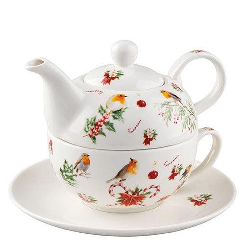Tea 4 One - Robin Christmas Ornaments