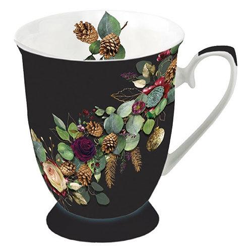 Porcelain Cup - Eucalyptus Black