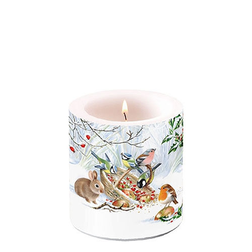 Decorative candle small - Winter Treat