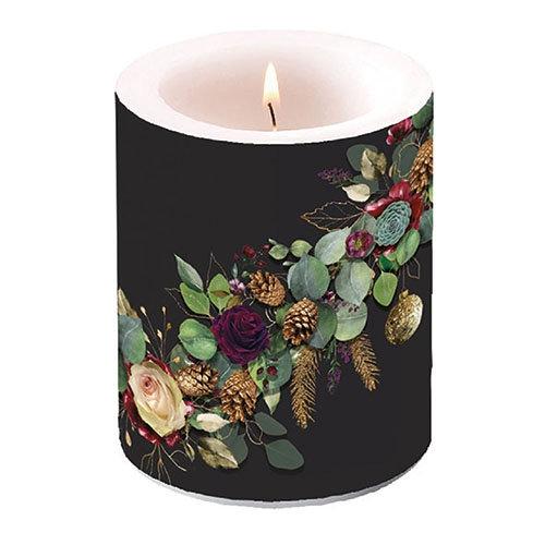 Decorative Large candle - Eucalyptus Black