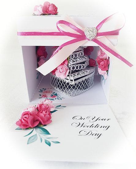 Wedding Anniversary Explosion Box Card
