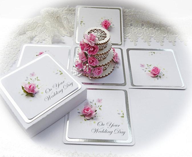 Explosion Box, Handmade Wedding Birthday Anniversary Exploding Box, Wedding Card