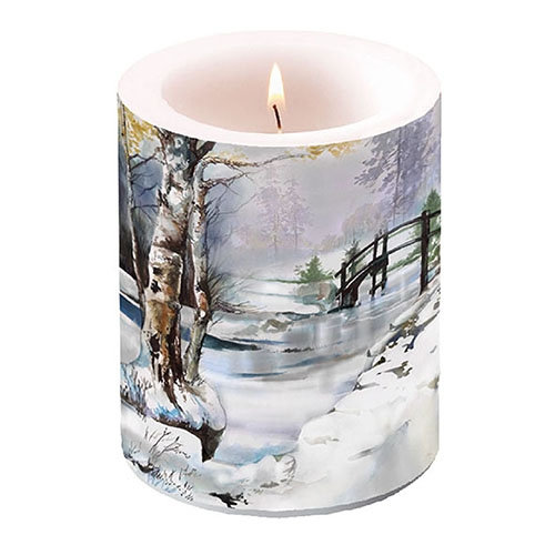 Decorative Large candle - It`s Wintertime