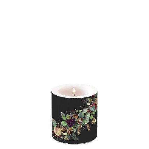Decorative candle small - Eucalyptus Black