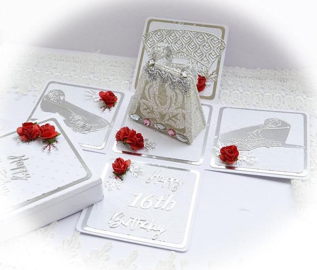 Birthday Explosion Box, Exploding Box Card, Box Card, Pop Up Birthday Card