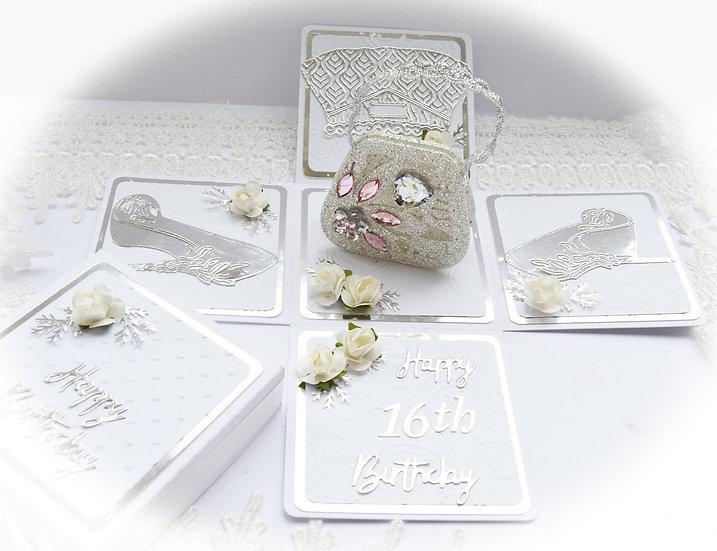 Birthday Explosion Box, Exploding Box Card, Pop Up Birthday Card, Keepsake Card