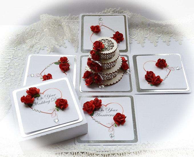 Explosion Box, Wedding Exploding Box, Handmade Birthday Wedding Anniversary Card