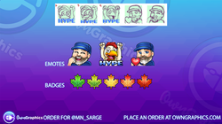 OwnGraphics Order Sarge Emotes and badge