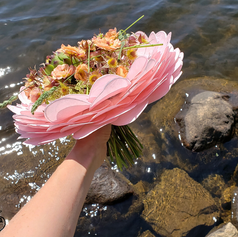 Bouquet de mariée girly