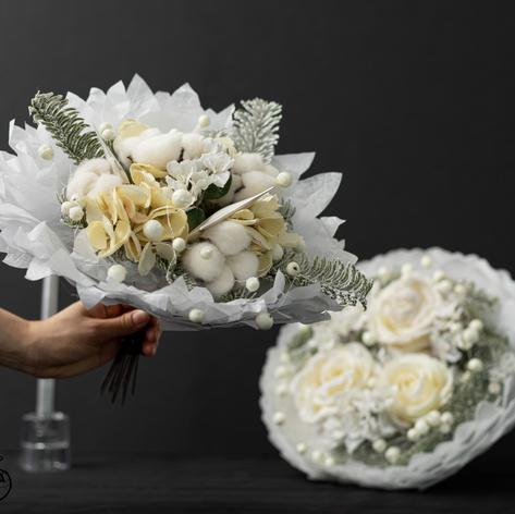 Bouquet papier de soie
