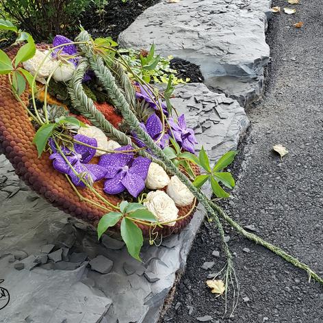 Objet Floral Soleil D'Automne