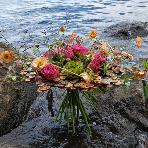 Bouquet lié boutons