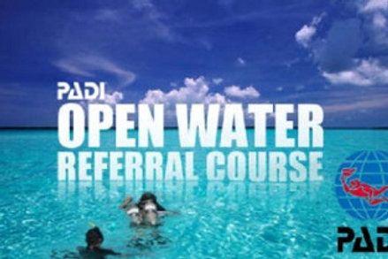 Confined Water Training only- Open Water Diver