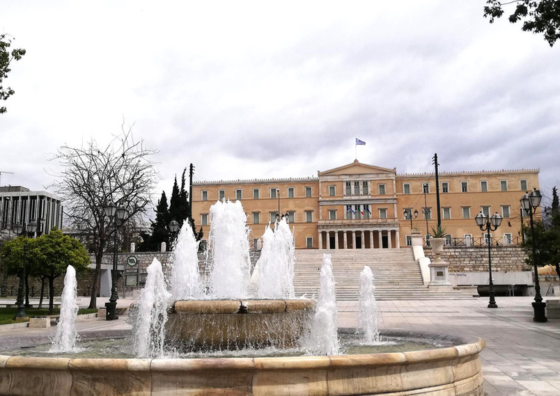 Syntagma square wintertime