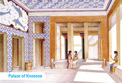 THE QUEEN'S MEGARON. KNOSSOS (Reconstruction by A.Evans)