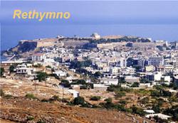 Rethymno city view