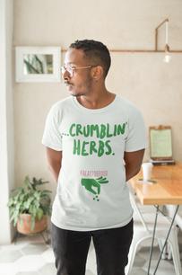 ...Crumblin' herbs.