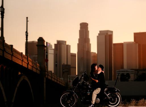 1st Street Bridge-Los Angeles Engagement Session-Emilene Photography