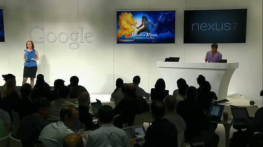 Featured in Google Nexus reveal event.