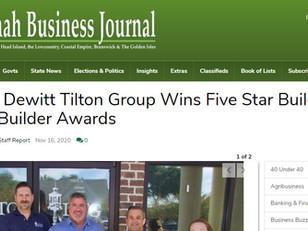Media Coverage of Dewitt Tilton Groups Receipt of Star Builder Awards