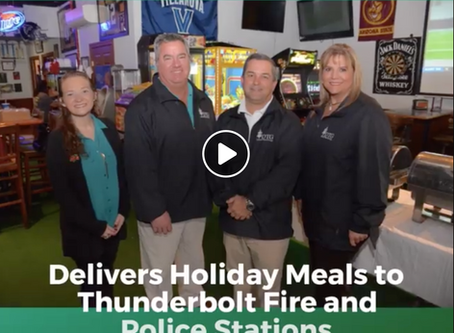 The Dewitt Tilton Group Delivers Holiday Meals to Thunderbolt Fire and Police Departments