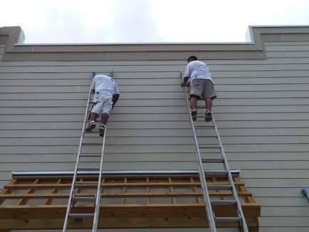 Hanging siding