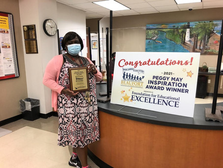 Inspiration Award Given In Unique Fashion to Match a Unique School Year