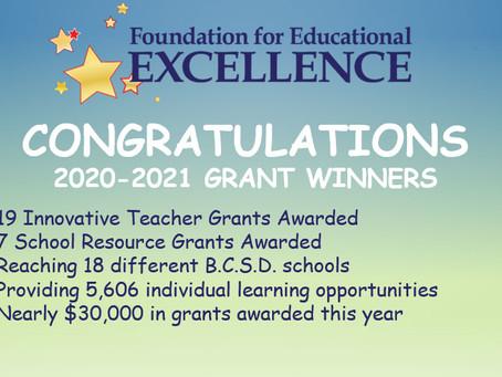 2020-2021 Grant Recipients Announced!