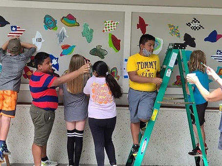Bluffton Students in the News - Elementary Students Complete Mural at Oscar Frazier Park