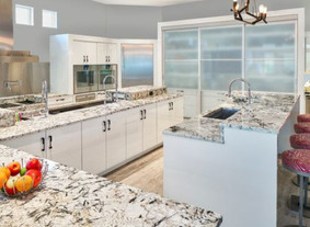 50 Shades of White and Gray Create Sophistication in Contemporary Kitchens and Baths