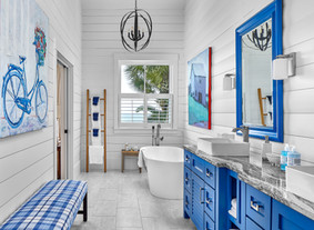Into the Blue:  Two Bathroom Remodels in Sea Pines