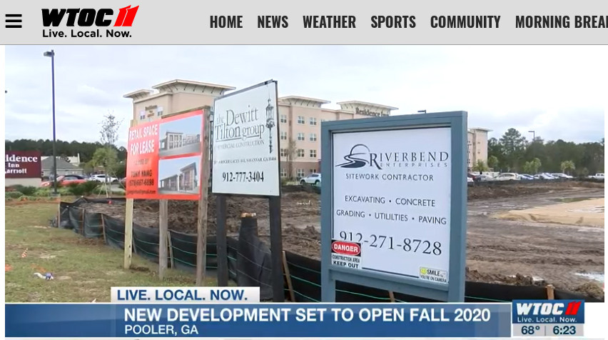 WTOC reports on our construction project