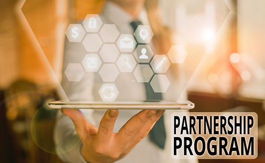 Handwriting text Partnership Program. Co